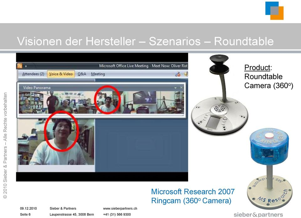 Product: Roundtable Camera (360 o )