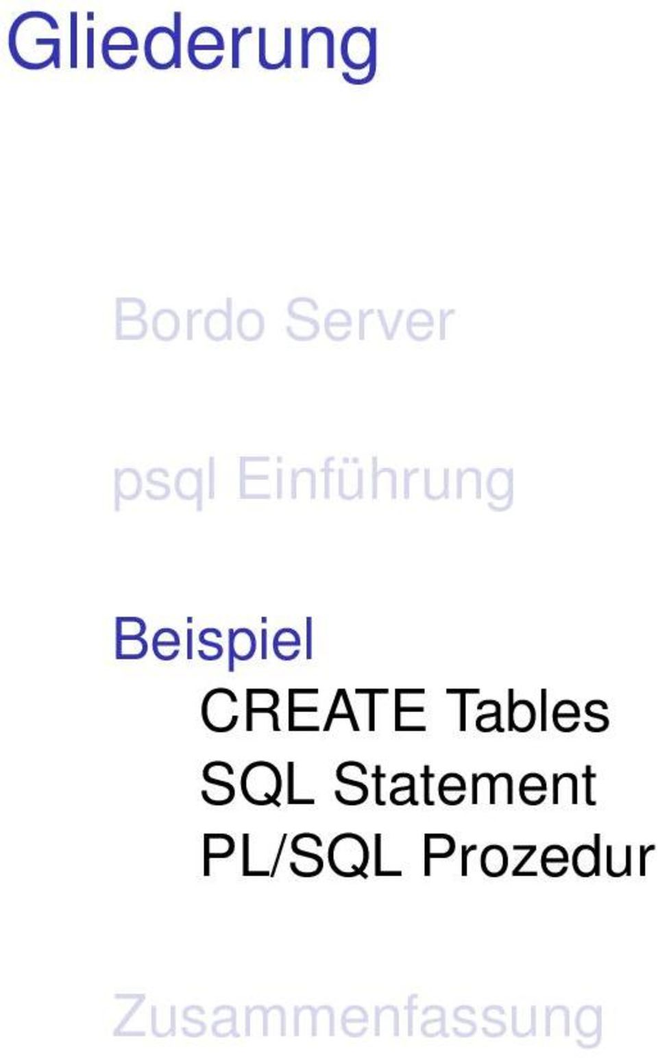 CREATE Tables SQL