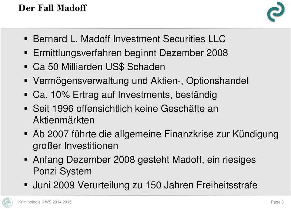 und Aktien-, Optionshandel Ca.