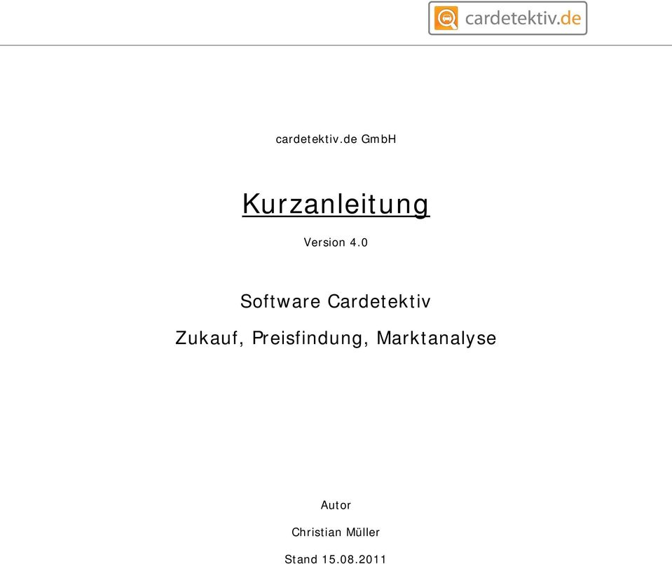 0 Software Cardetektiv Zukauf,