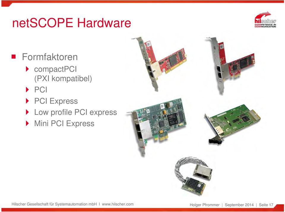 Express Low profile PCI express Mini