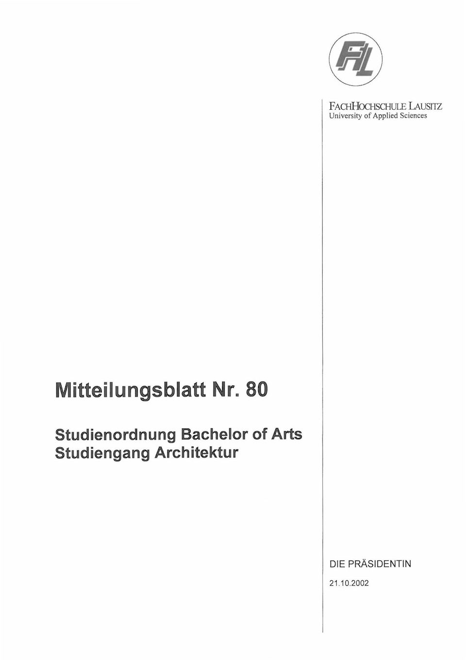 80 Studienordnung Bachelor of Arts
