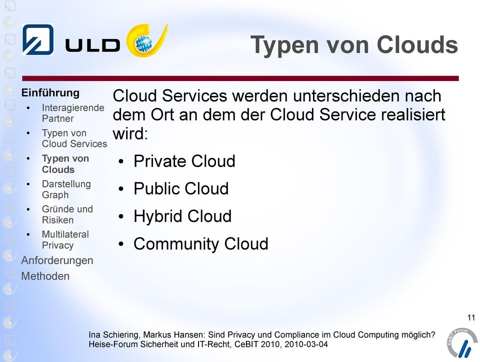 realisiert wird: Private Cloud
