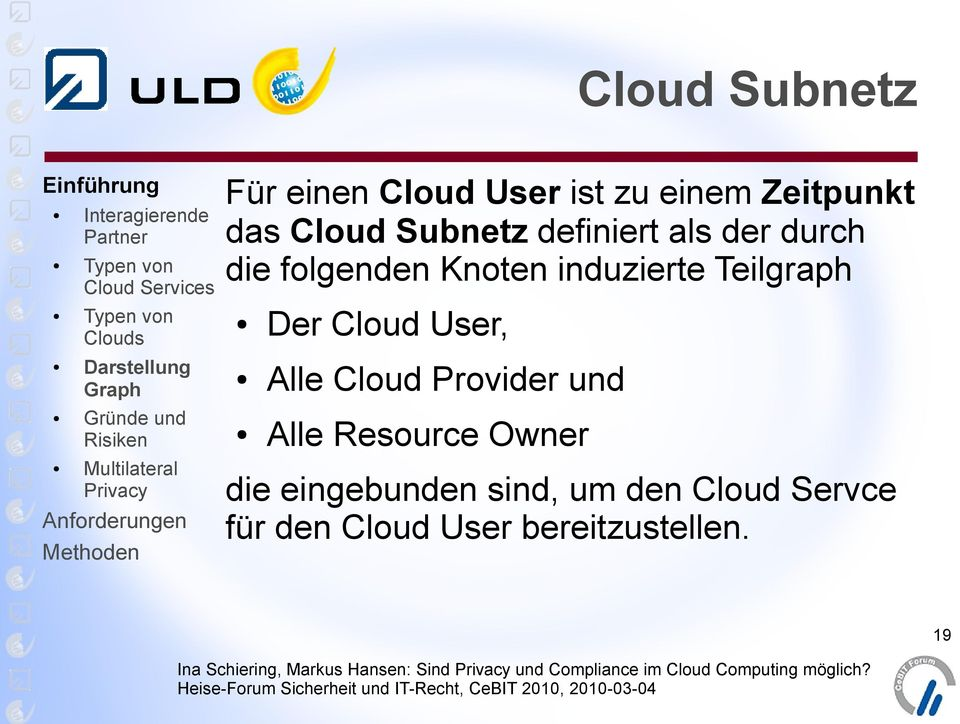 Teilgraph Der Cloud User, Alle Cloud Provider und Alle Resource Owner