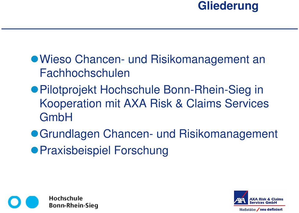 in Kooperation mit AXA Risk & Claims Services GmbH