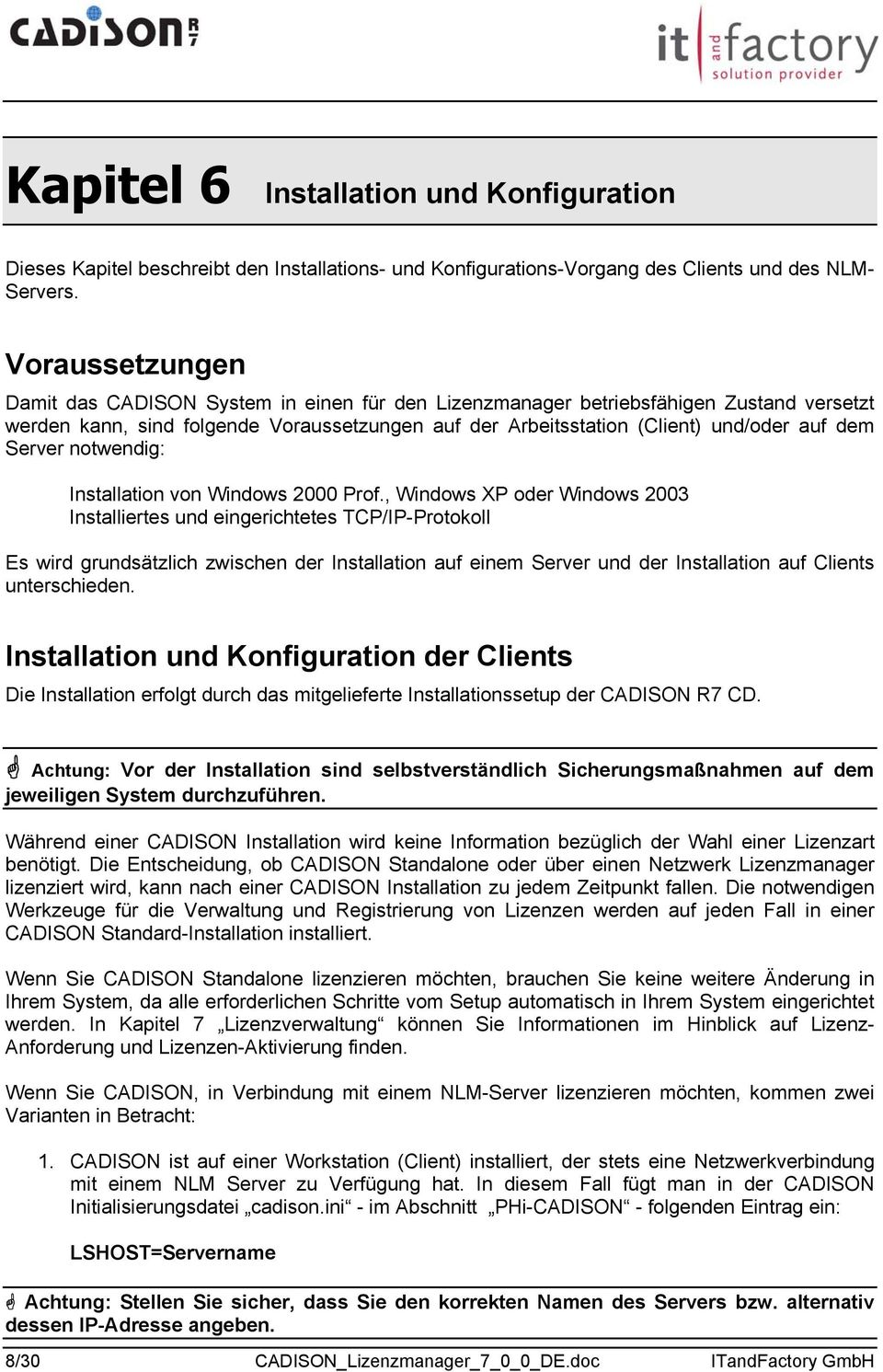 Server notwendig: Installation von Windows 2000 Prof.