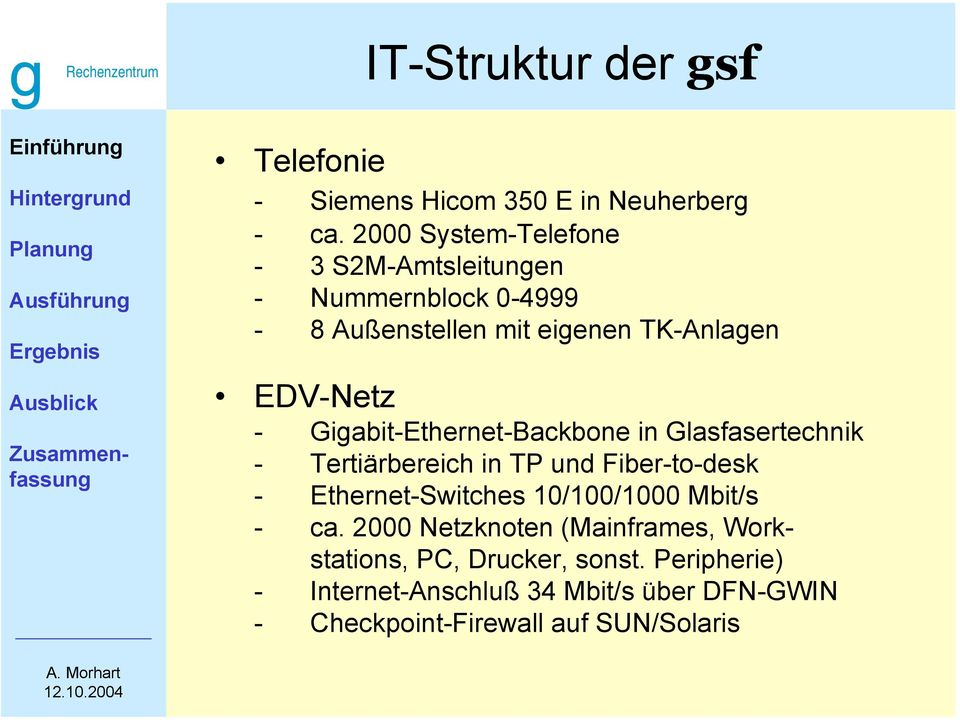 Gigabit-Ethernet-Backbone in Glasfasertechnik - Tertiärbereich in TP und Fiber-to-desk - Ethernet-Switches 10/100/1000