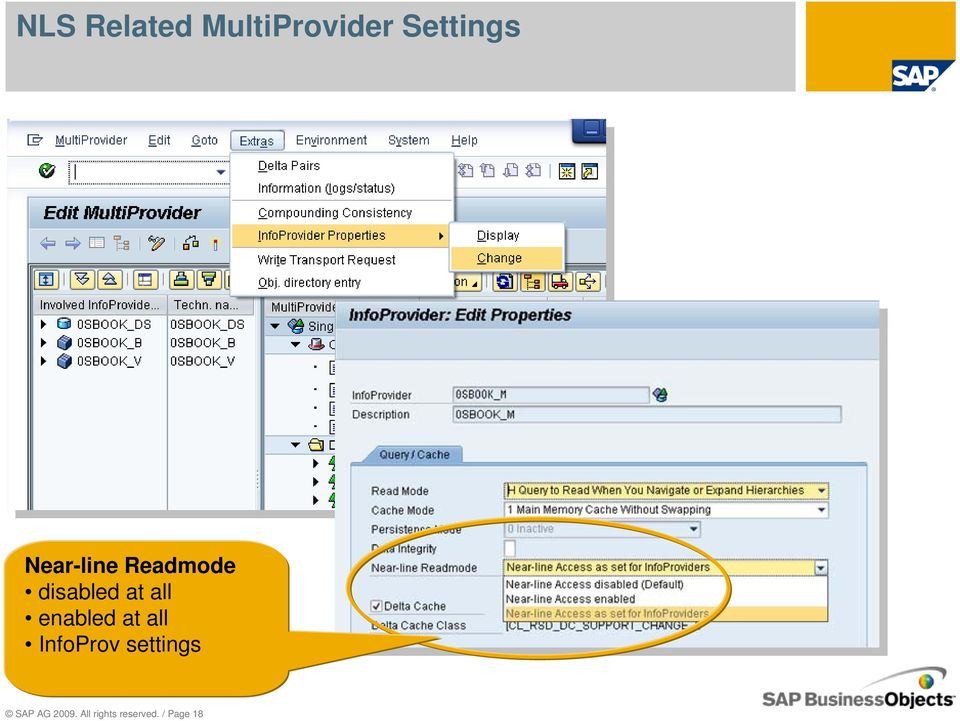 enabled at all InfoProv settings SAP