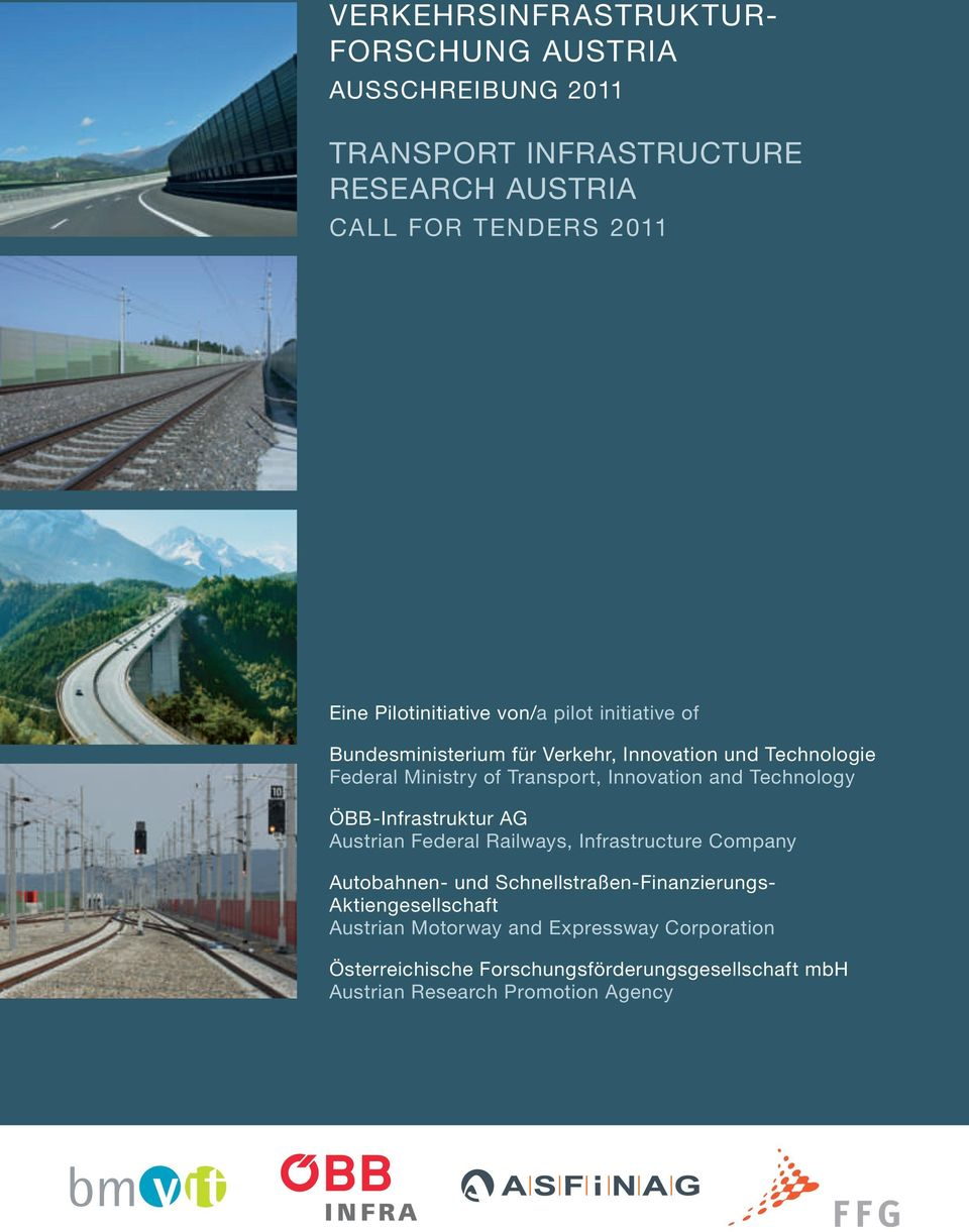 innovation and Technology Öbb-infrastruktur Ag Austrian Federal railways, infrastructure company Autobahnen- und