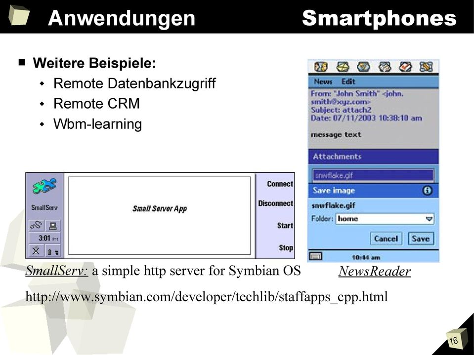 SmallServ: a simple http server for Symbian OS
