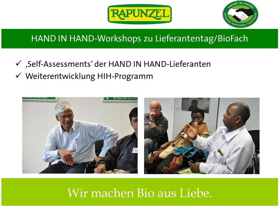 Self-Assessments der HAND IN