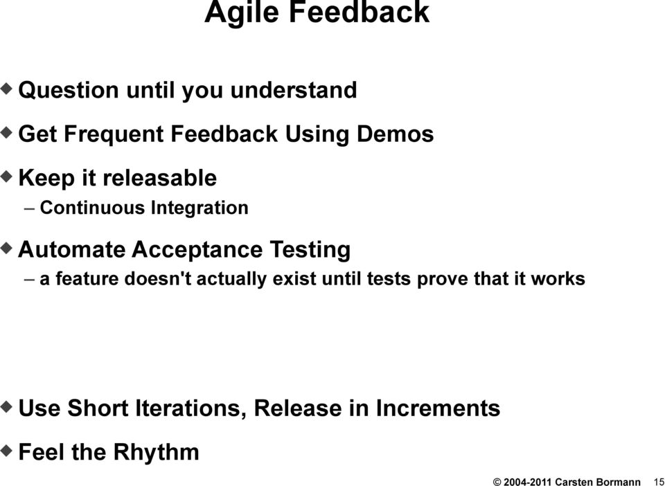 Keep it releasable Continuous Integration!