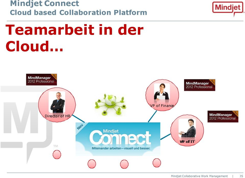 Teamarbeit in der Cloud VP
