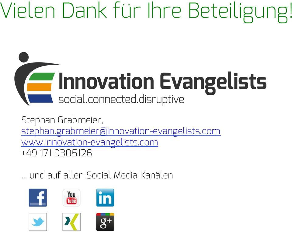 grabmeier@innovation-evangelists.com www.