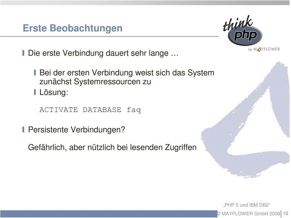 Systemressourcen zu Lösung: ACTIVATE DATABASE faq Persistente