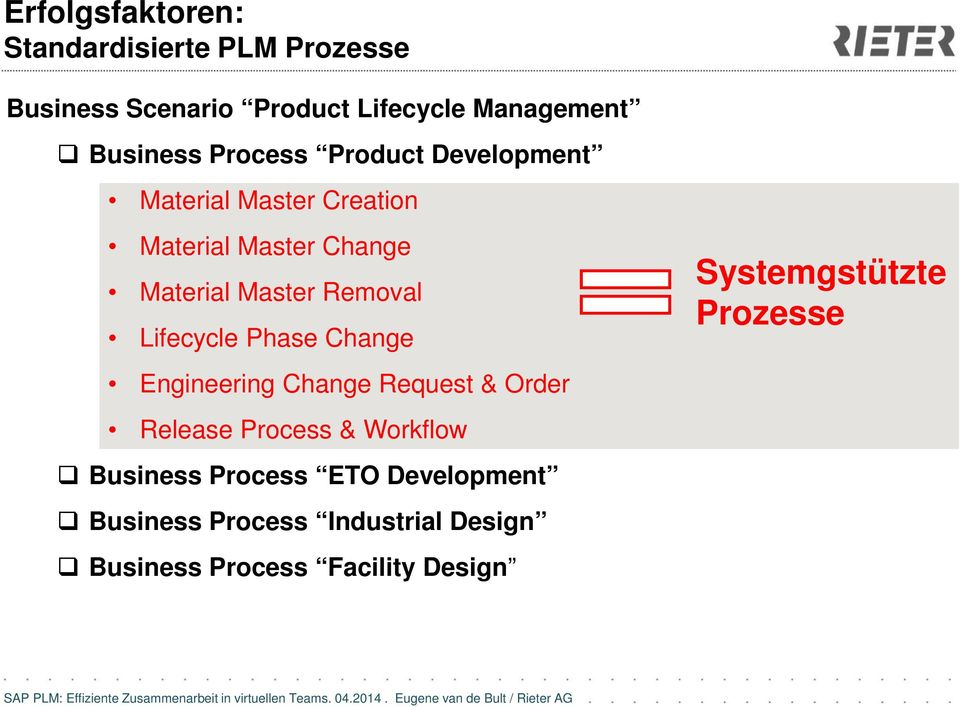 Lifecycle Phase Change Engineering Change Request & Order Release Process & Workflow Business Process