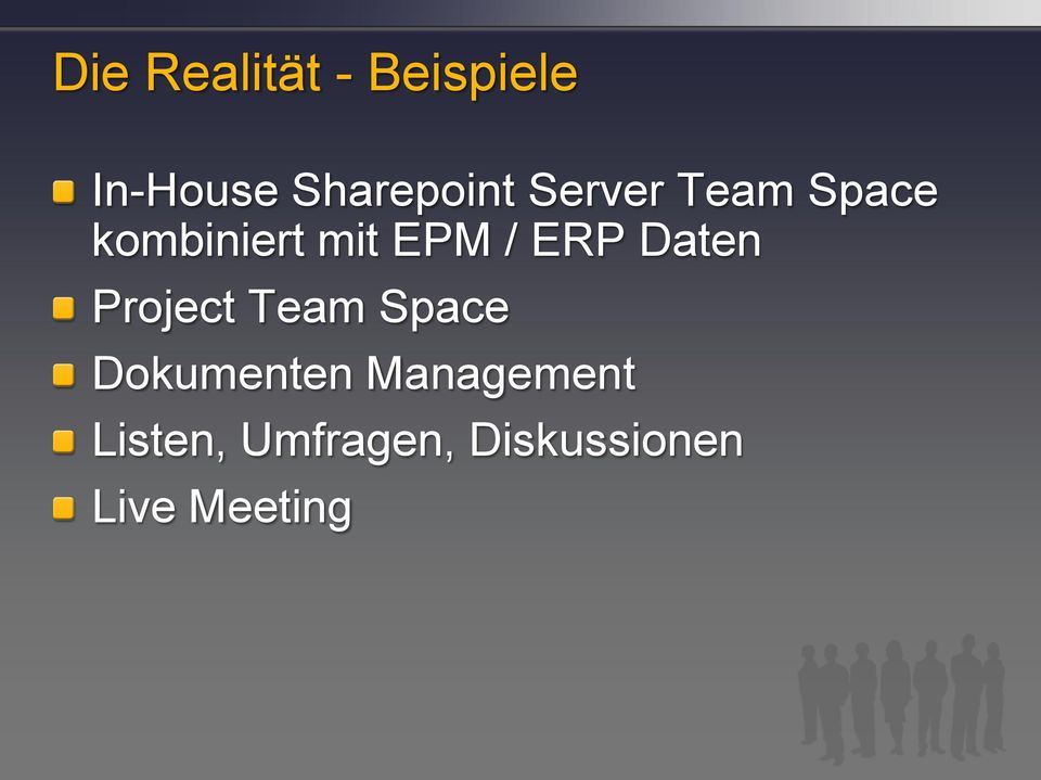 Daten Project Team Space Dokumenten