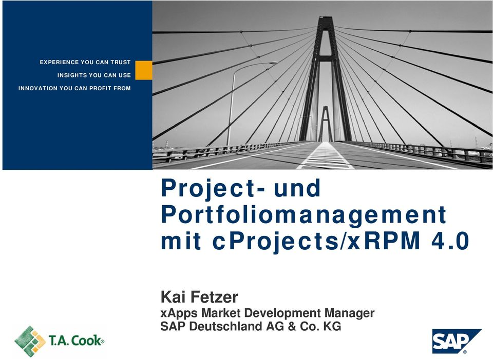 Portfoliomanagement mit cprojects/xrpm 4.