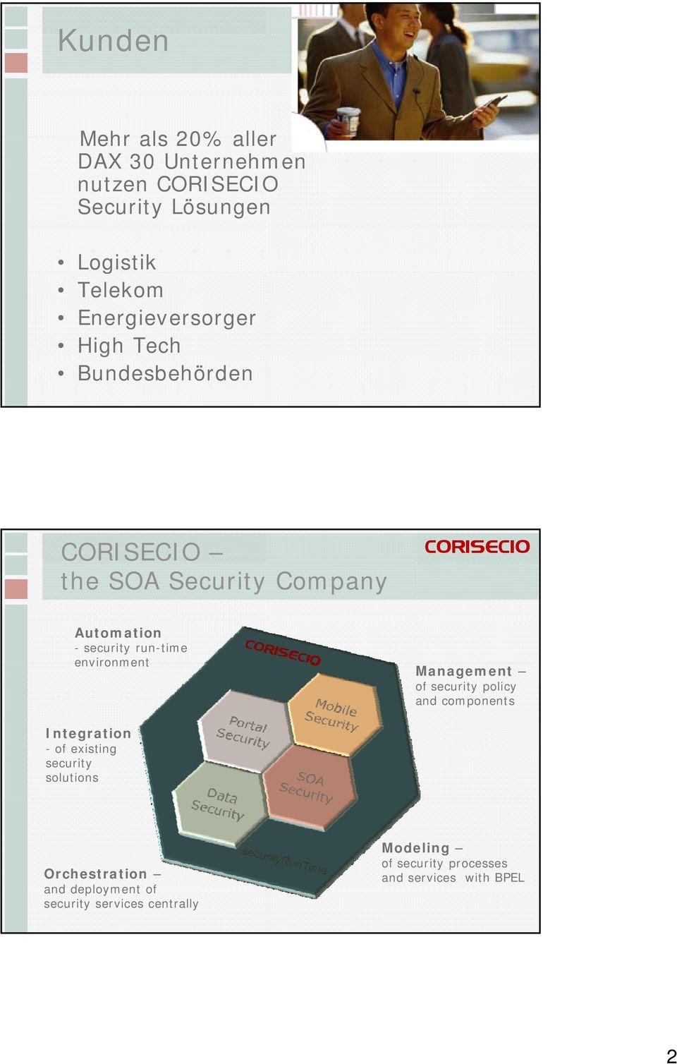 environment Management of security policy and components Integration -of existing security solutions