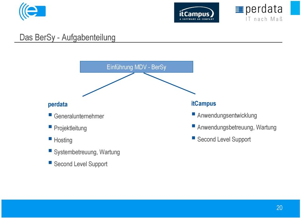 Systembetreuung, Wartung Second Level Support itcampus