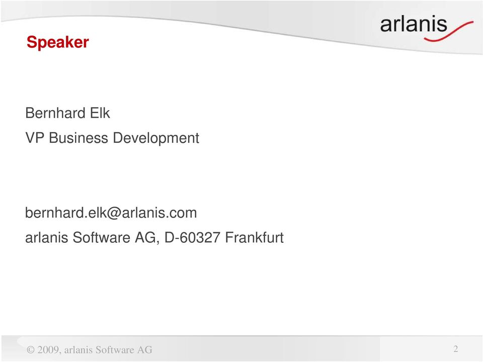 com arlanis Software AG, D-60327