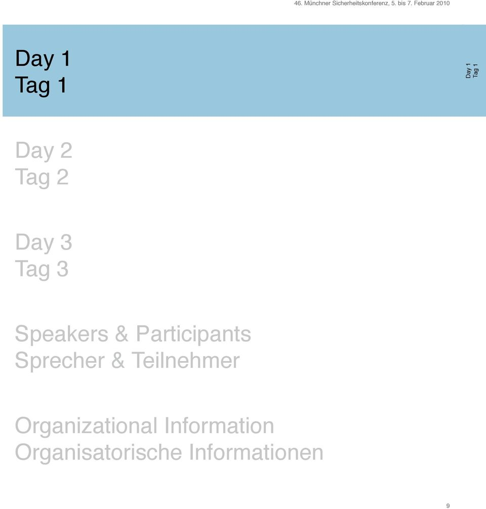 3 Tag 3 Speakers & Participants Sprecher &