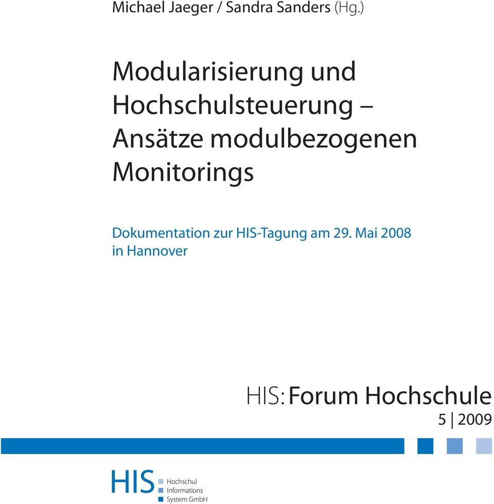 modulbezogenen Monitorings Dokumentation zur