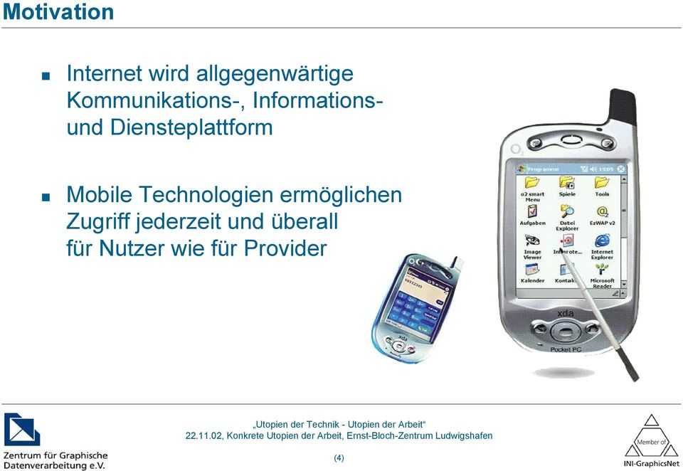 Diensteplattform Mobile Technologien