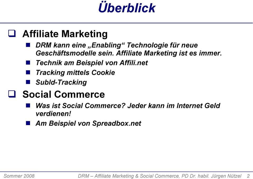 net Tracking mittels Cookie SubId-Tracking Social Commerce Was ist Social Commerce?