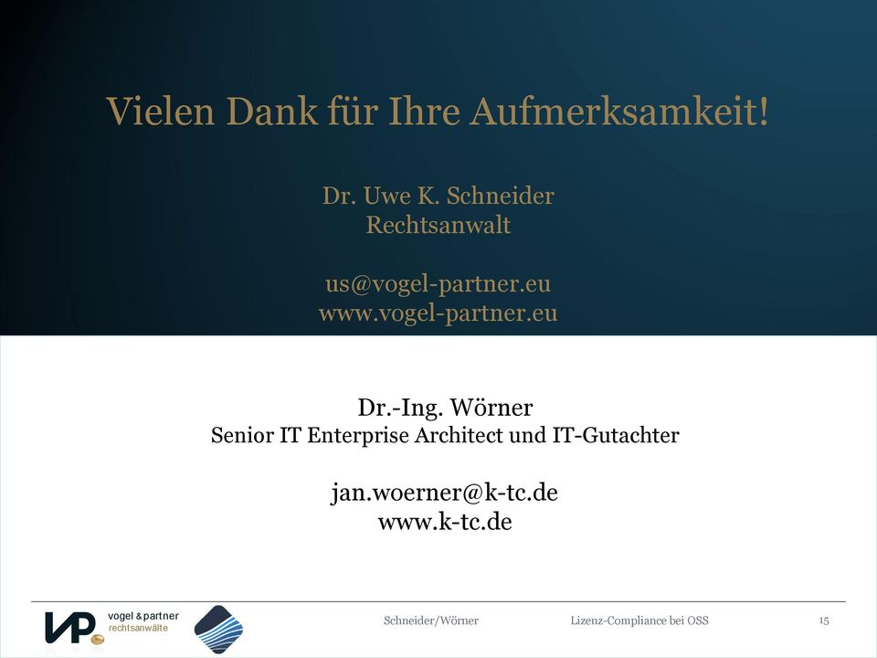 -Ing. Wörner Senior IT Enterprise Architect und IT-Gutachter jan.