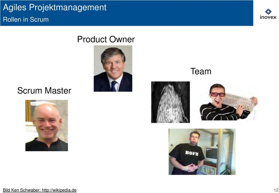 Owner Team Scrum Master Bild
