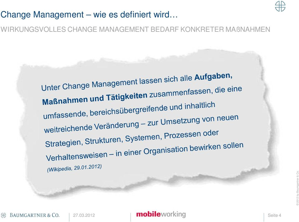 CHANGE MANAGEMENT BEDARF