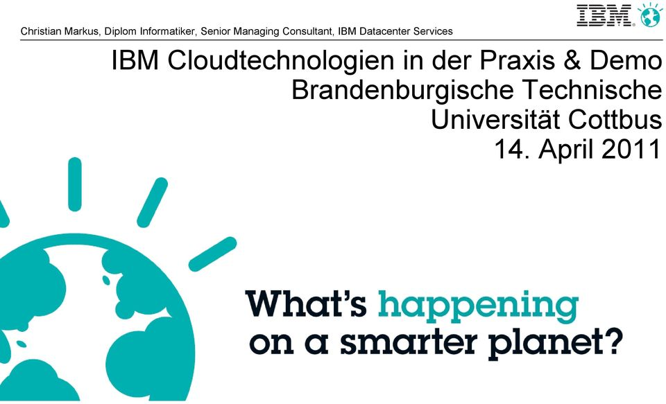 Cloudtechnologien in der Praxis & Demo
