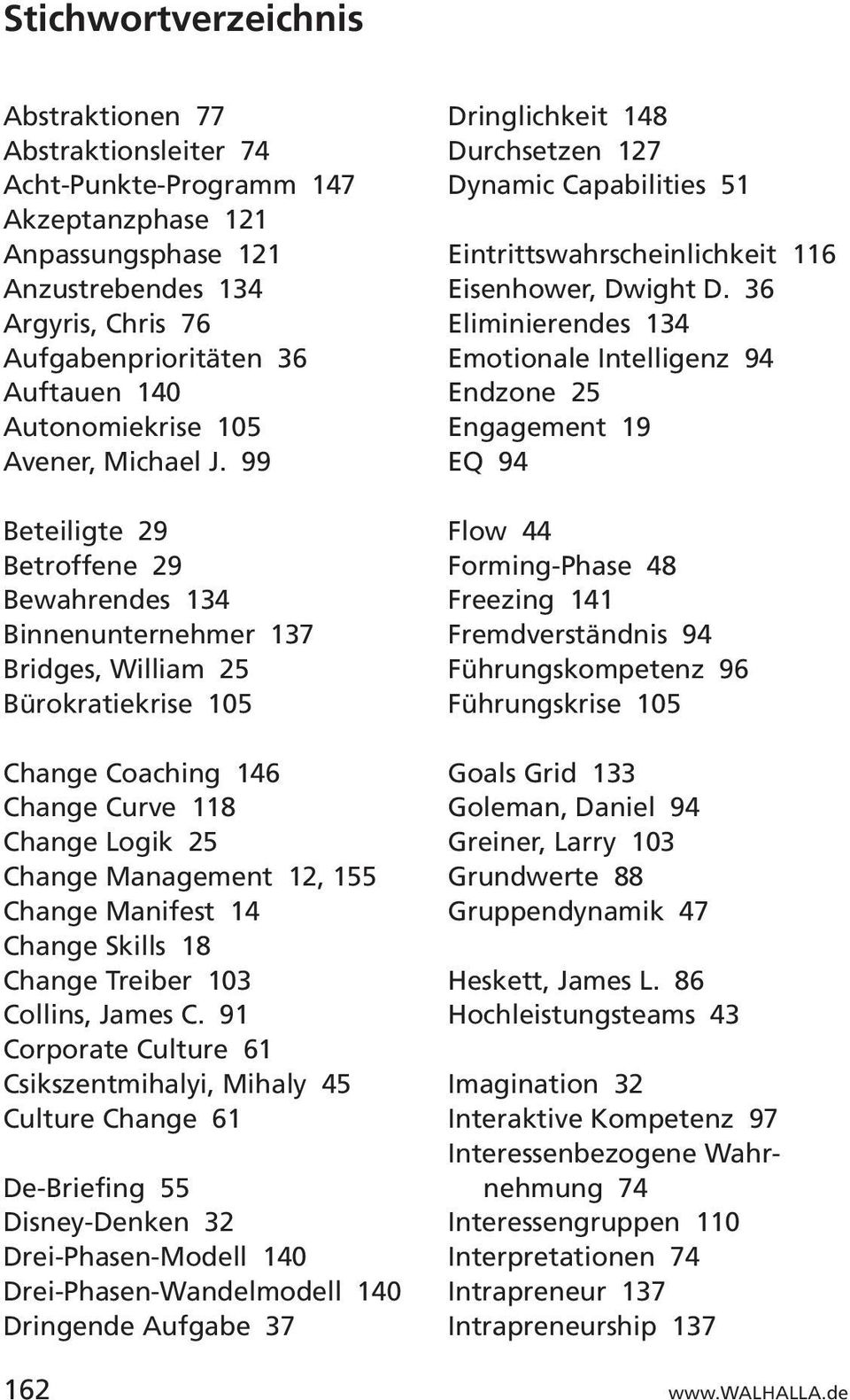 99 Beteiligte 29 Betroffene 29 Bewahrendes 134 Binnenunternehmer 137 Bridges, William 25 Bürokratiekrise 105 Change Coaching 146 Change Curve 118 Change Logik 25 Change Management 12, 155 Change