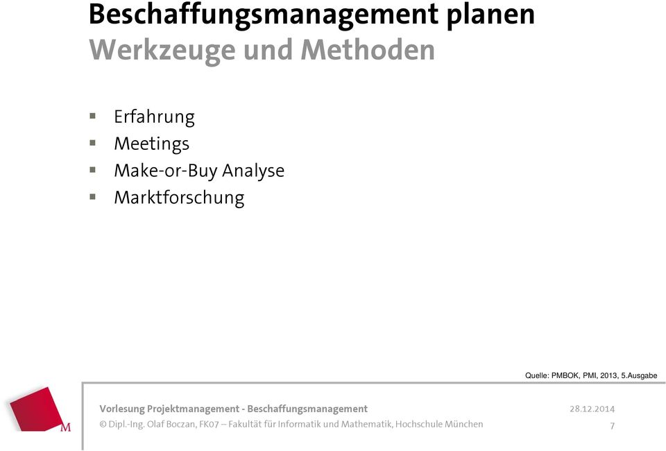Meetings Make-or-Buy Analyse