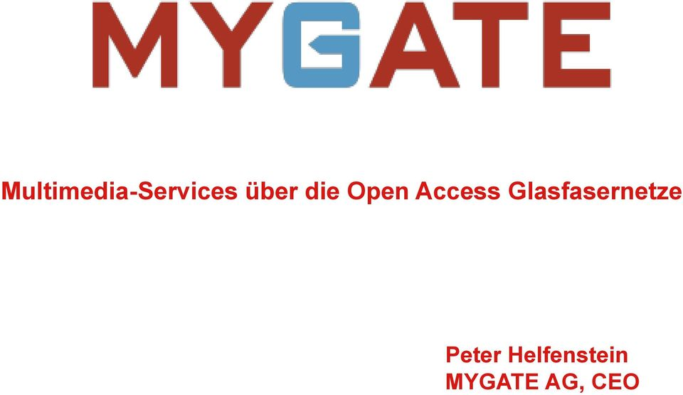 Glasfasernetze Peter
