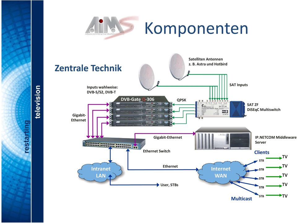 Gate Q 306 QPSK SAT ZF DiSEqC Multiswitch Gigabit Ethernet IP.