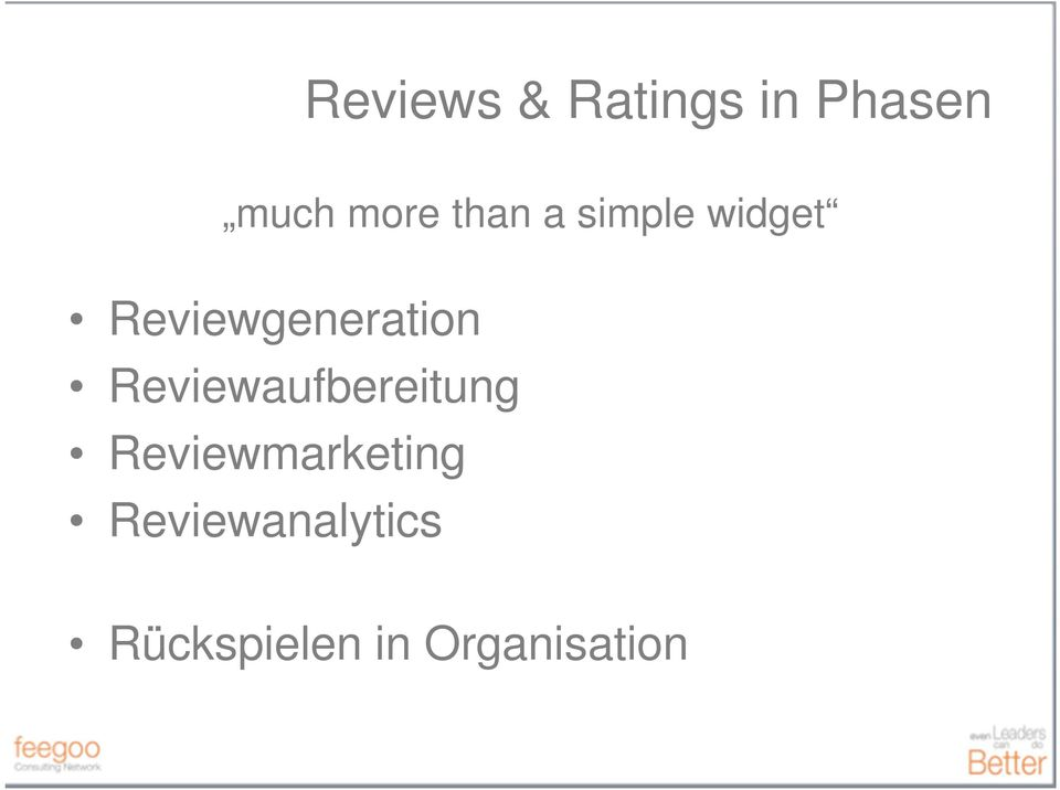 Reviewmarketing Reviewanalytics Rückspielen in
