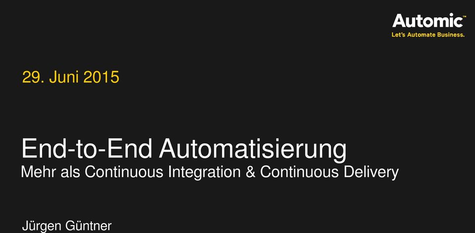 Continuous Integration &