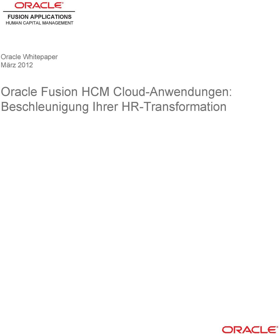 2012 Oracle Fusion HCM