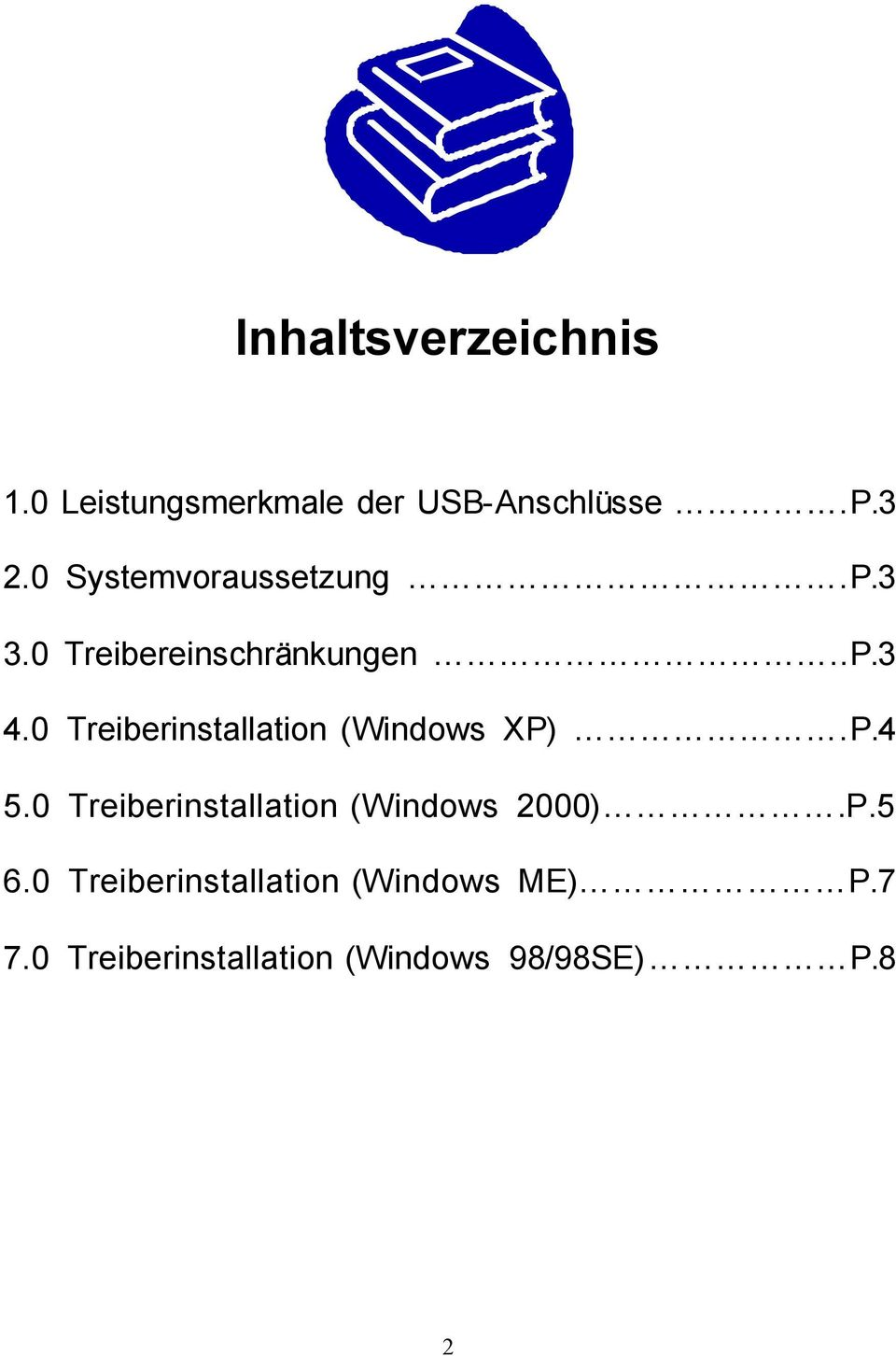 0 Treiberinstallation (Windows XP).P.4 5.