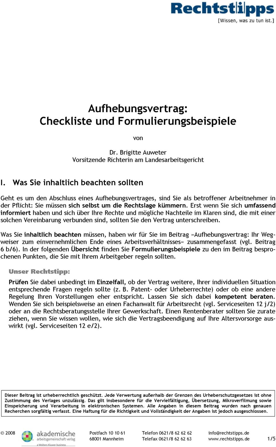 aufhebungsvertrag checkliste und formulierungsbeispiele pdf. Black Bedroom Furniture Sets. Home Design Ideas
