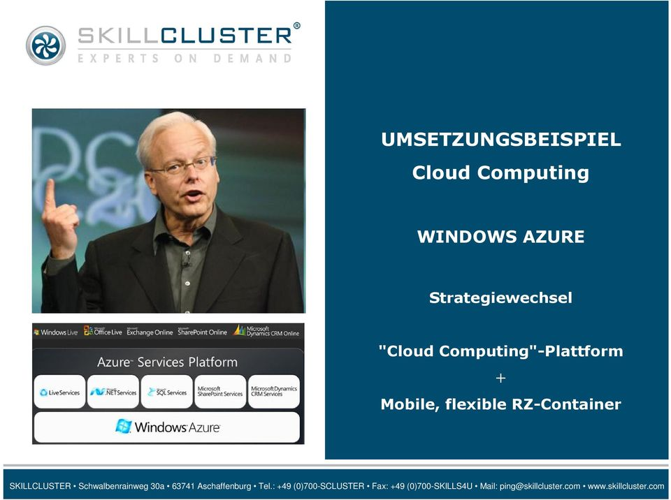 "Strategiewechsel ""Cloud"