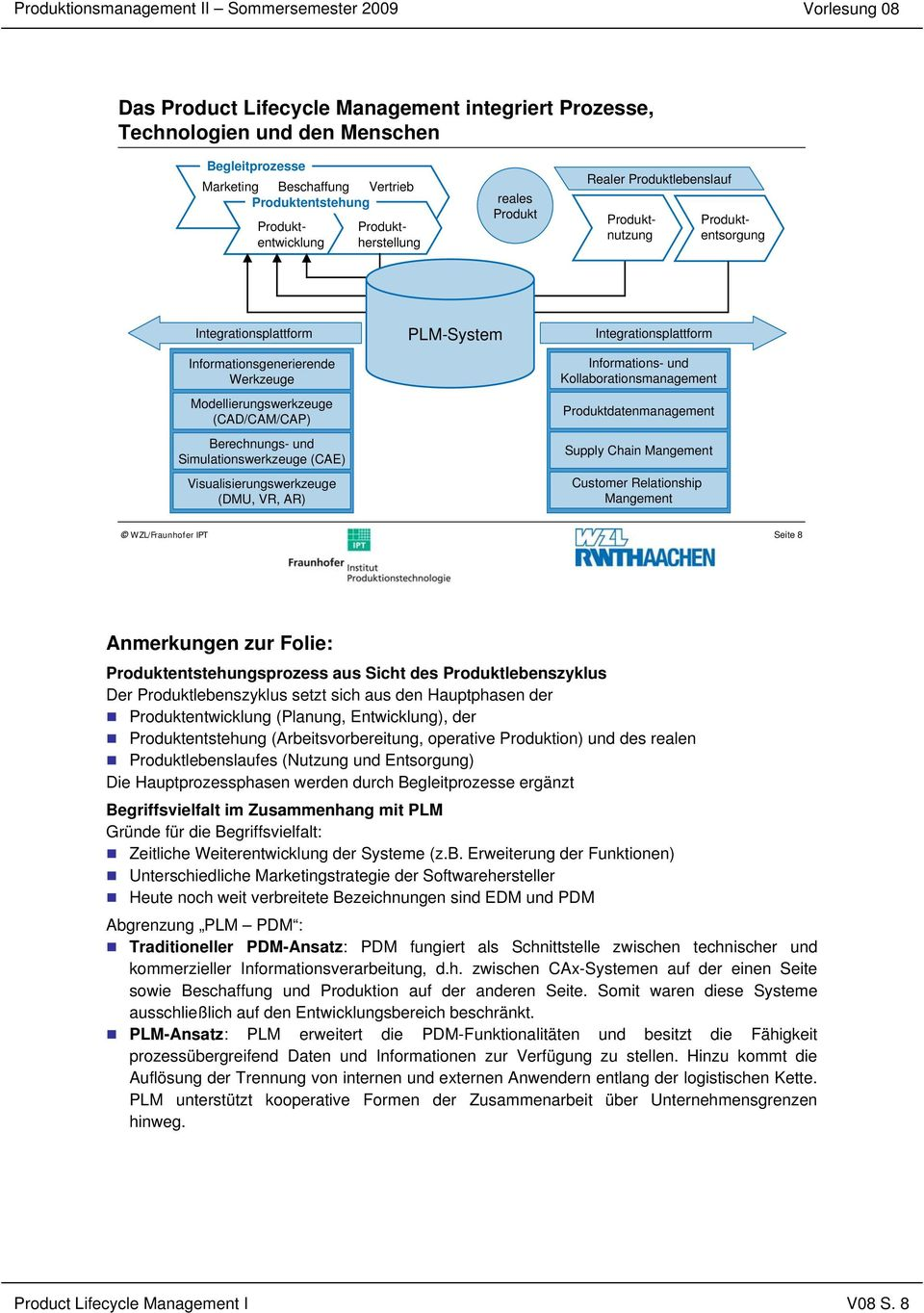 Simulationswerkzeuge (CAE) Visualisierungswerkzeuge (DMU, VR, AR) PLM-System Integrationsplattform Informations- und Kollaborationsmanagement Produktdatenmanagement Supply Chain Mangement Customer