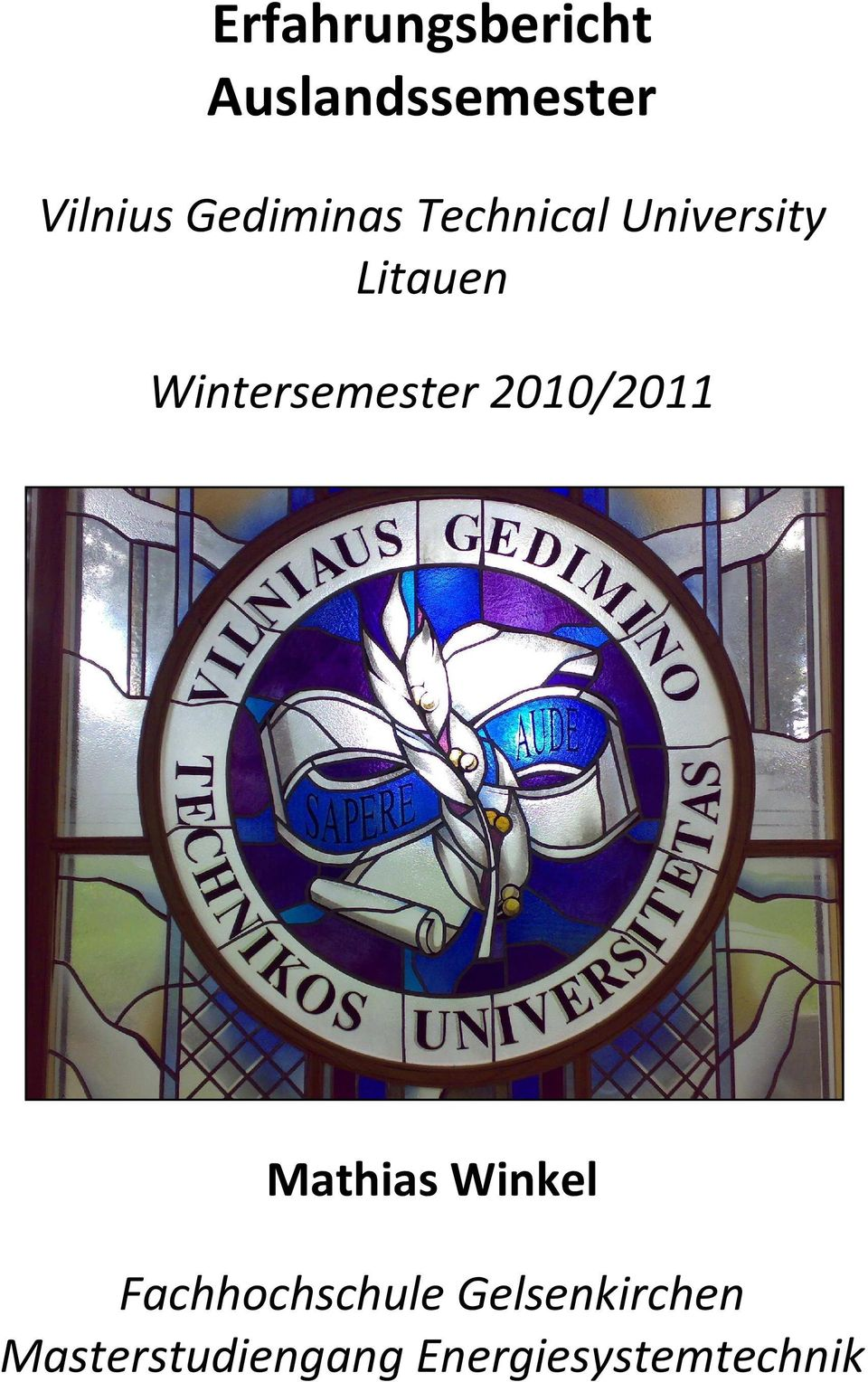 Wintersemester 2010/2011 Mathias Winkel