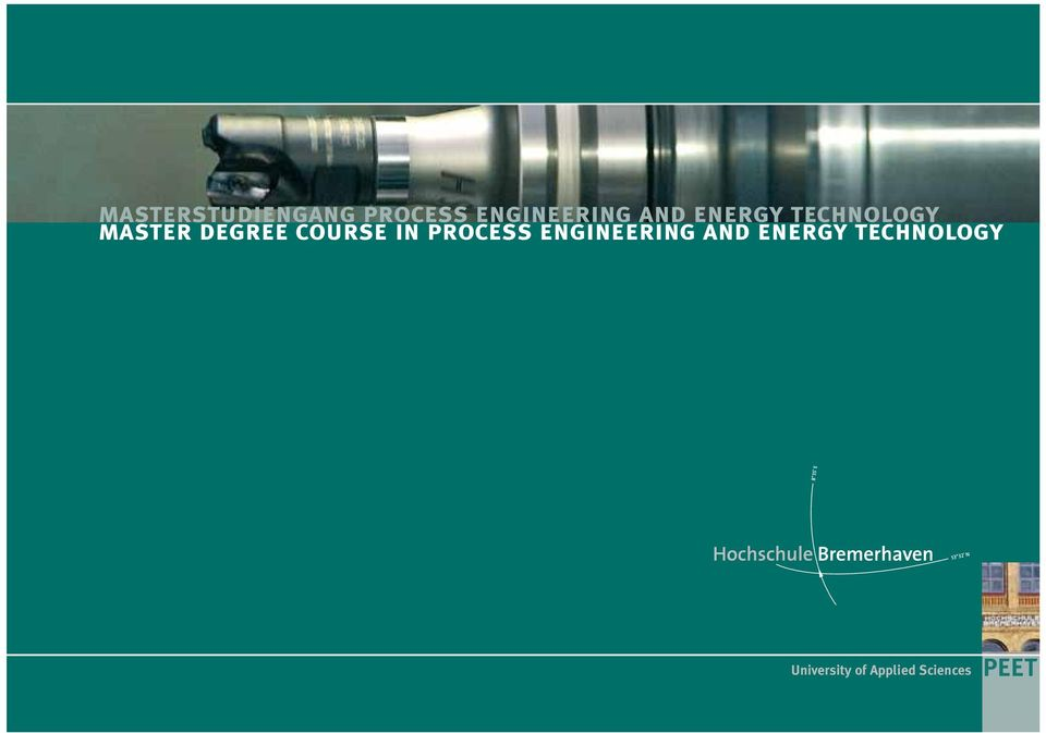course in process engineering and energy