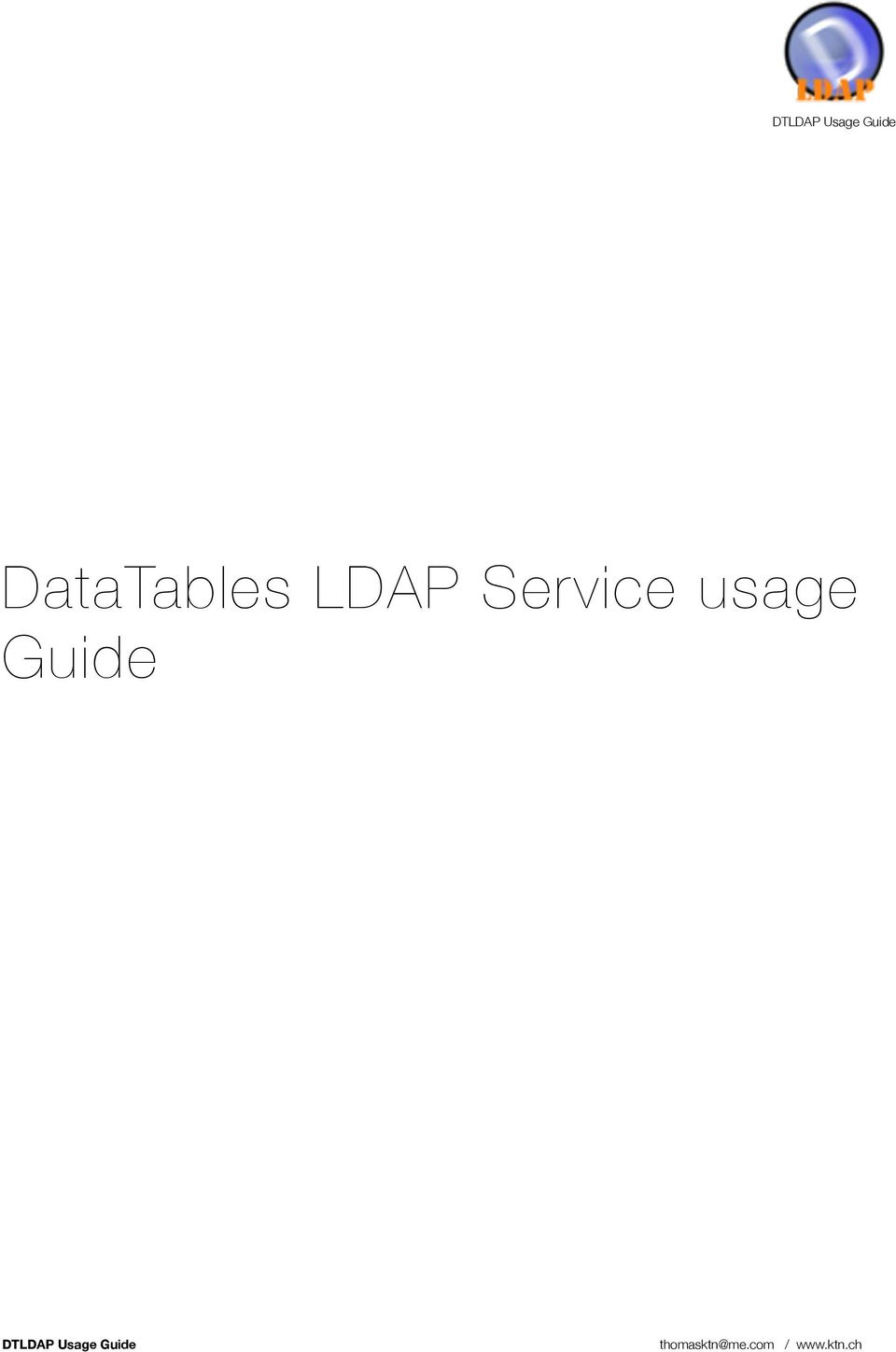 DTLDAP Usage Guide