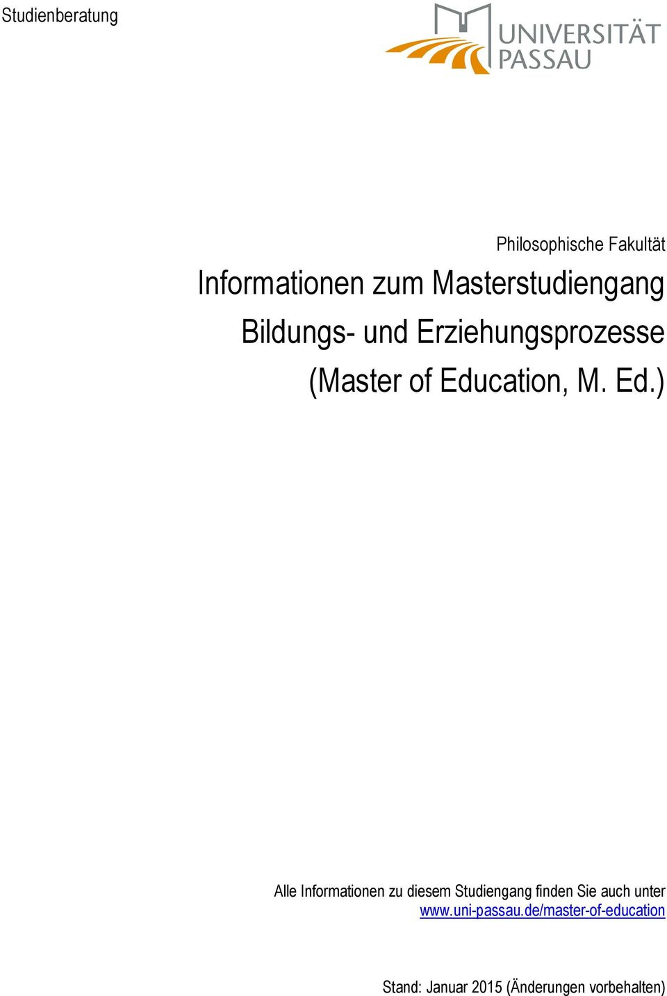 Education, M. Ed.
