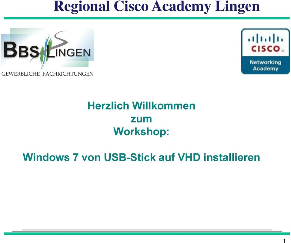 zum Workshop: Windows 7 von