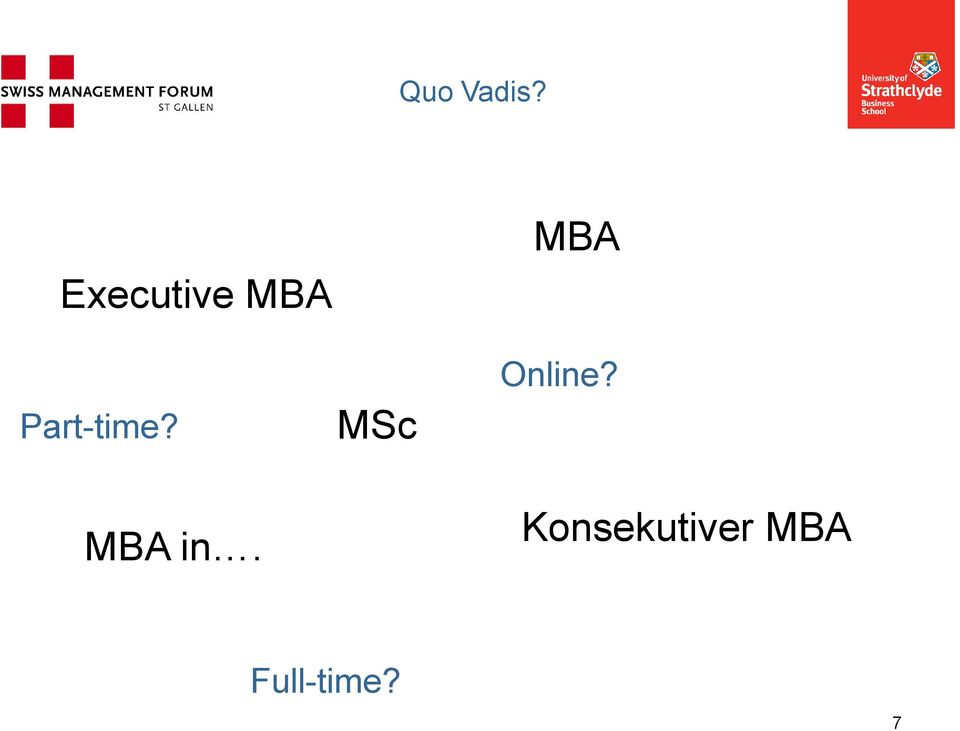 Part-time? MBA in.